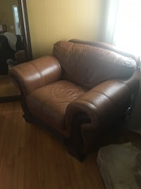 brown leather sofa chair with ottoman Chesapeake, 23323