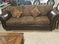 brown and black floral fabric sofa Richmond, 23229