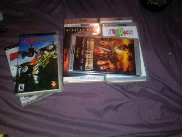 2 psp games and 5 umd video for psp