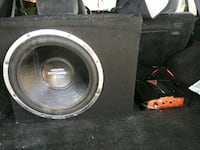 black and gray subwoofer speaker Wolfforth, 79382