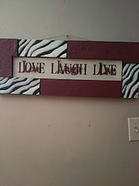 black and white zebra print wooden wall decor Fort Smith, 72901