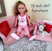 My life doll and couch and chair
