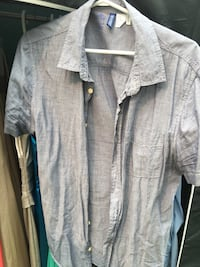 Blue short sleeve dress shirt New Westminster, V3L 4N4