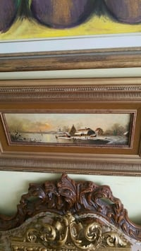 brown wooden framed painting of brown house Montreal, H3R 3L4