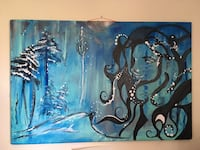 blue and black tree painting wall decor 3771 km