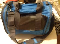 Dog or pet portable soft sided carrier blue ... For small breeds up to 15#s