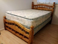 Bed With Wood Frame  San Pablo