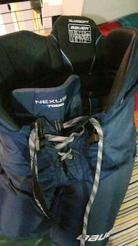 blue and white The North Face backpack Barrie