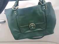 Authentic all leather large Coach purse