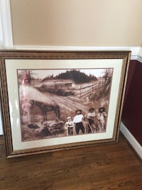 Beautiful detailed historical picture professionally framed and matted Aldie, 20105