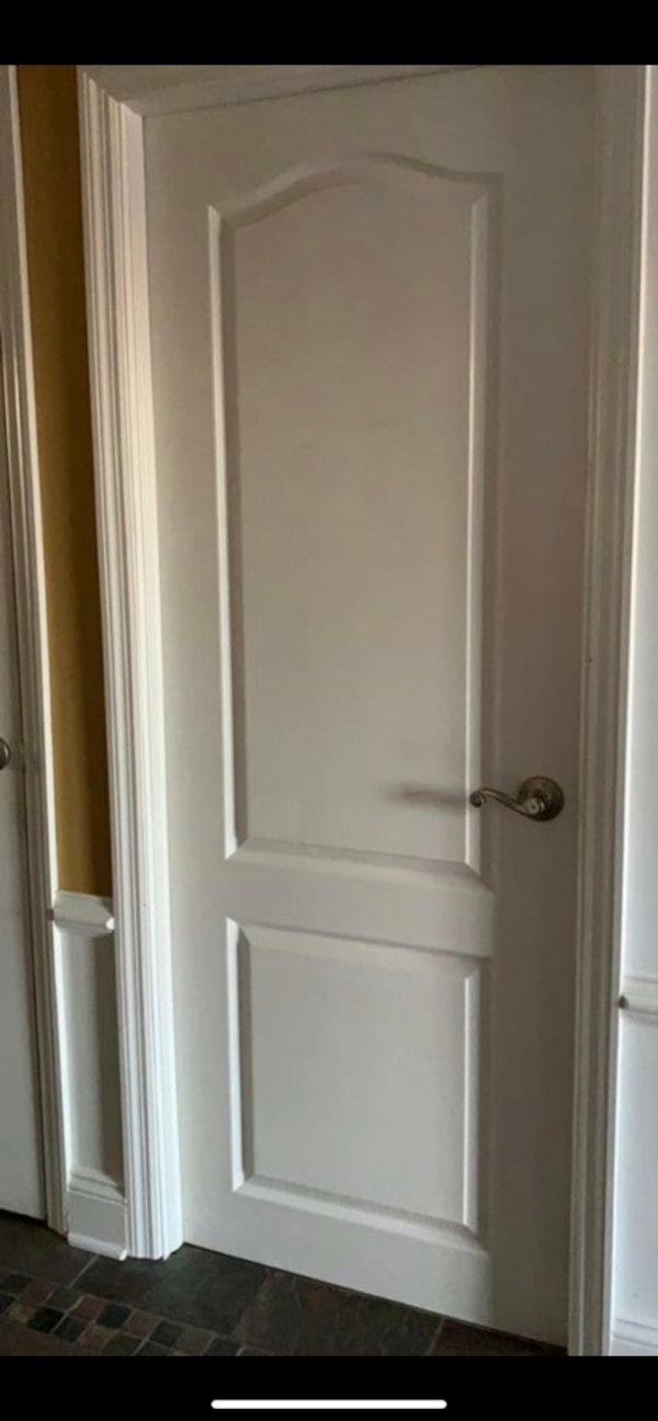 2 Two Panel Interior Doors With Brow Arch Measurements In Description