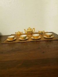 Japanese lusterware miniature tea set. New Rochelle, 10805