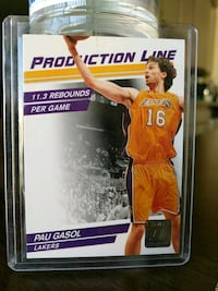 Lakers Pau Gasol numbered insert card Paramount, 90723