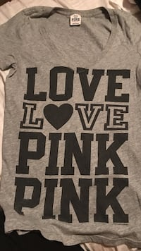 Victoria secret pink gray top size small