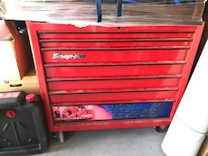 Red Snap On tool cabinet
