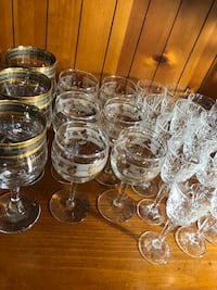 6 vintage/antique Italy wine or water glasses. Beautiful gold trim design  Hamilton, L9A 1T3
