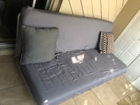 black leather sofa with throw pillows Gulfport, 33707