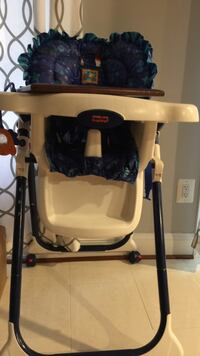 baby's white blue and brown high chair Frederick, 21703
