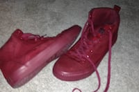 pair of red leather high-top sneakers Washington, 20024