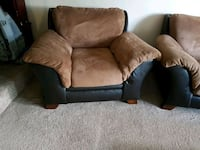 brown and black leather sofa chair Winnipeg, R2Y 1Z1