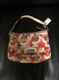 white and pink floral leather hobo bag Sylvan Beach, 13157
