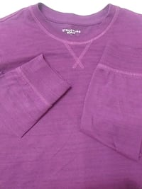 Men's purple M slim fit long sleeve