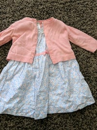 Blue and Pink Floral Dress (6months) Calgary, T2E 3A4