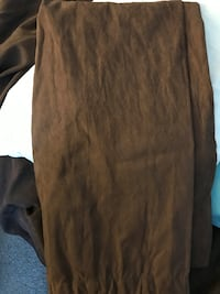 84 inch brown suede curtains for set Rosedale