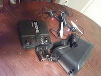 Sharper image camera drone and headset