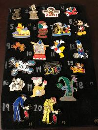 Disney enamel lapel pins are $10 each. Let me know which one by number.