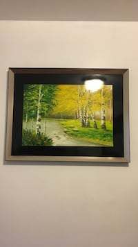 brown wooden framed painting of house Mississauga, L5B 2M1