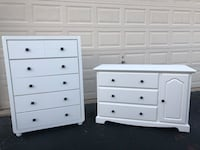 Set of 2 White Dressers 48 km