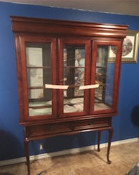 Brown wood China cabinet