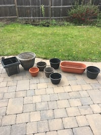 Nine flower pots Vaughan, L4J 0B6
