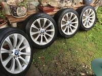 gray BMW multi-spoke wheel with tire set Barrie, L4N 8K2