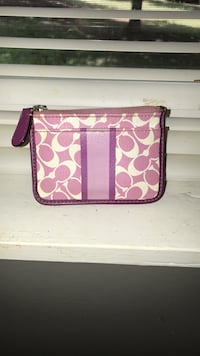 pink and white Coach monogram wristlet LaGrange, 30240
