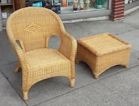 #18291 Wicker and Bamboo Chair and Ottoman Oakland, 94610
