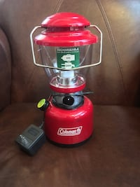 Red rechargeable  Coleman lantern  Henderson, 89074