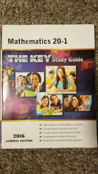 2016 Mathematics 20-1 The Key study guide book Airdrie, T4A 0E8