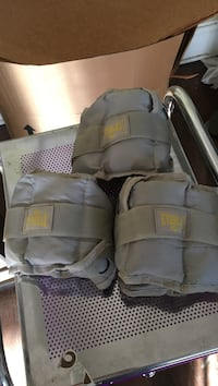 4 gray everlast ankle weights