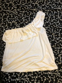 White one shoulder tank Vaughan, L6A 3N4