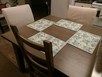 Dining  Set with  4 chairs - All set  include mats Edmonton, T5L 1A9
