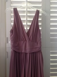 Women's purple sleeveless dress, floor length