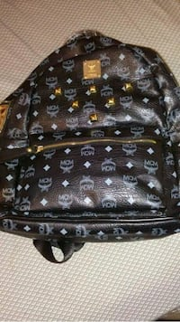 Black and Brown MCM Leather Backpack Charlotte, 28208
