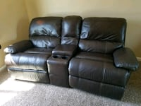 brown home theater sofa