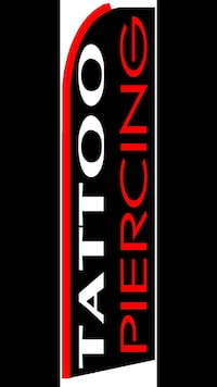 red and white Tattoo/piercing  banner 442 mi