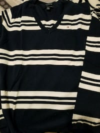 black and white striped polo shirt Bakersfield, 93304