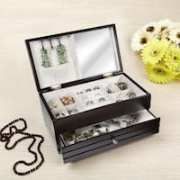 Java finish wooden jewellery box with drawer | BRAND. EW Ajax, L1T 0A9