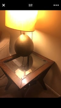 black and white table lamp Westland, 48185