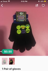 1 pair of emoji gloves  Hyattsville, 20782